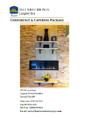 Conference & Catering Package