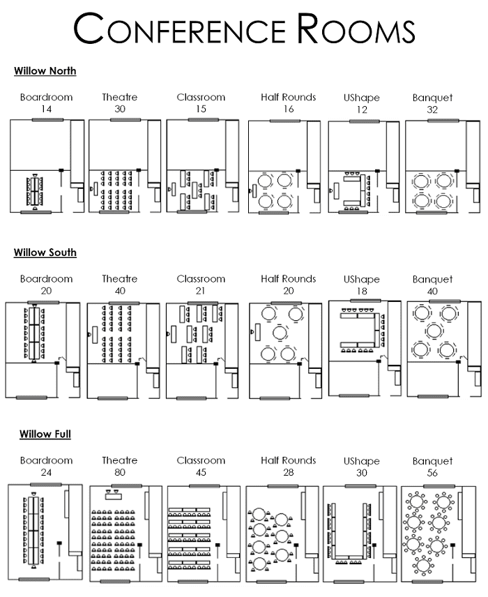 conference rooms layout