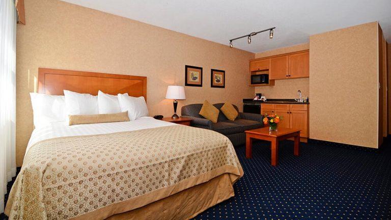 Hotel-room-queen-bed
